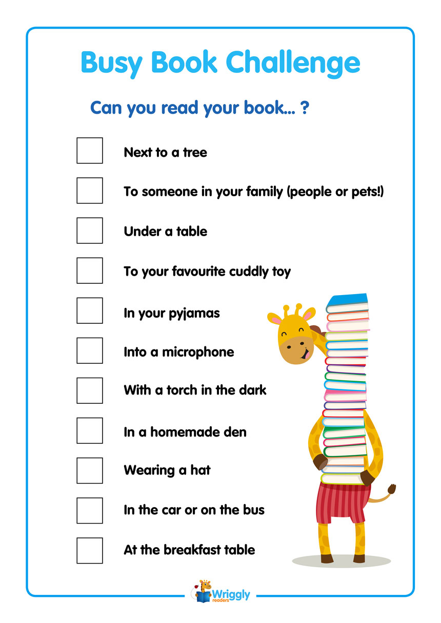 Busy Book Challenge