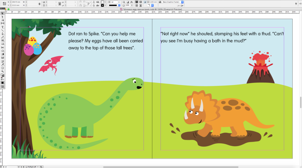 Dinosaur Egg Rescue Book (Example Page 1)